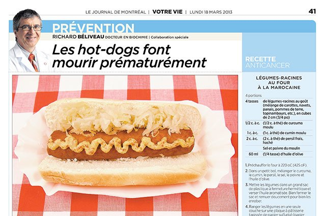 Chroniques Hot Dogs Lead To An Early Grave Chair In Cancer
