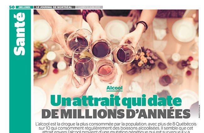 Alcool: Un attrait qui date de millions d'années