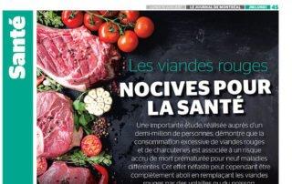Les viandes rouges nocives pour la santé