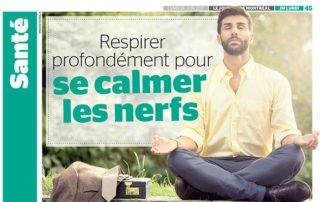 Respirer profondément pour se calmer les nerfs