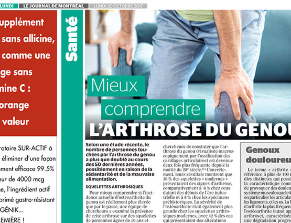 Mieux comprendre l'arthrose du genou