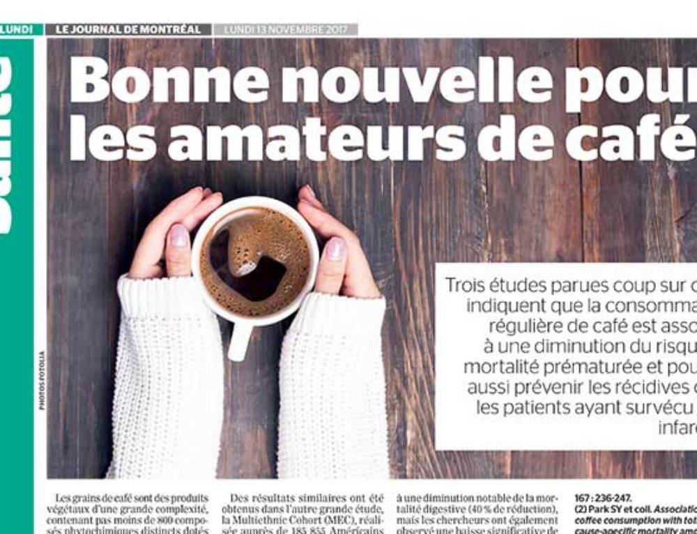 Bonne nouvelle pour les amateurs de café