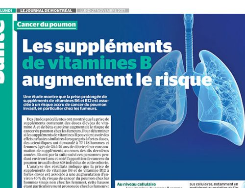Cancer du poumon : Les suppléments de vitamine B augmentent le risque