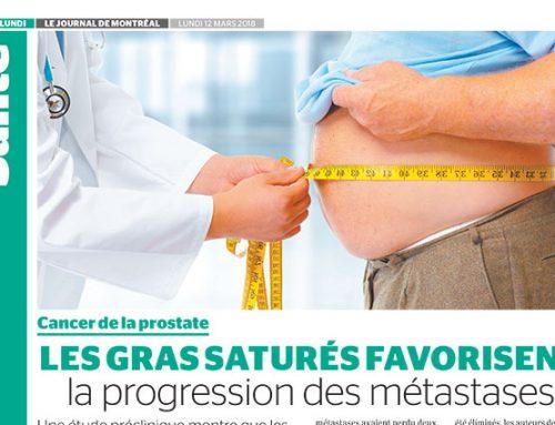 Cancer de la prostate :  les gras saturés favorisent la progression des métastases