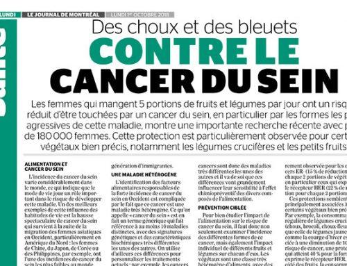 Des choux et des bleuets contre le cancer du sein