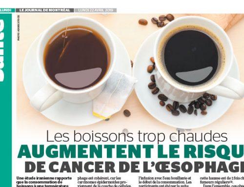 Les boissons trop chaudes augmentent le risque de cancer de l'oesophage
