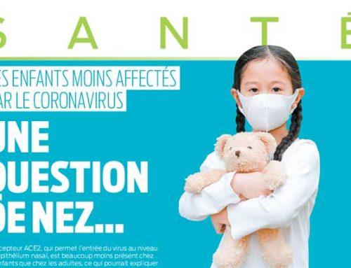 Les enfants moins affectés par le coronavirus: une question de nez