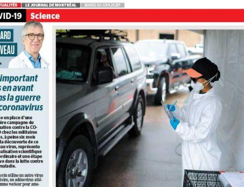 Un important pas en avant dans la guerre au coronavirus