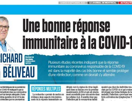 Une bonne réponse immunitaire à la COVID-19