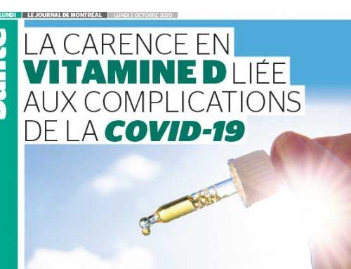 La carence en vitamine D liée aux complications de la COVID-19