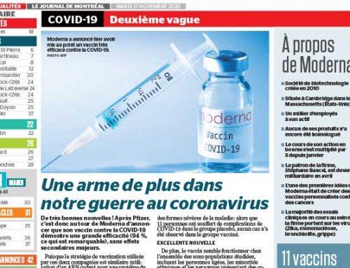 Une arme de plus dans notre guerre au coronavirus