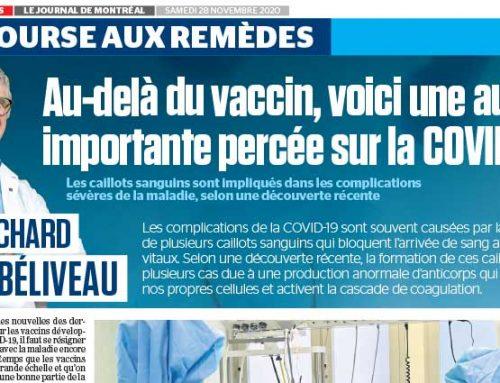 La course aux remèdes : Au-delà du vaccin, voici une autre importante percée sur la COVID-19