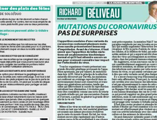 Mutations du coronavirus : pas de surprises