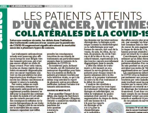 Les patients atteints d'un cancer, victimes collatérales de la COVID-19