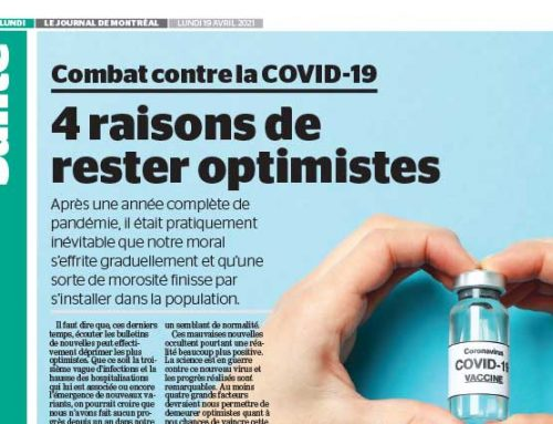 Combat contre la COVID-19 : 4 raisons de rester optimistes