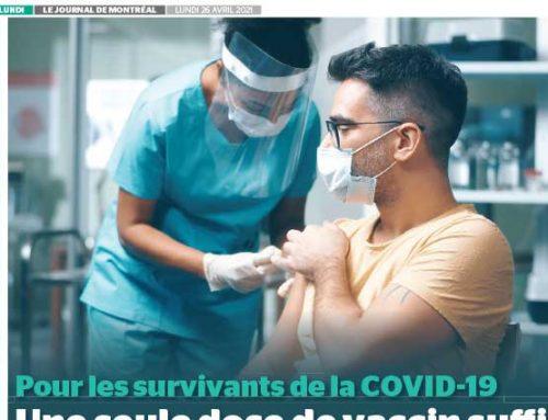 Pour les survivants de la COVID-19 : Une seule dose de vaccin suffit
