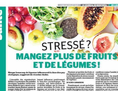 Stressé? Mangez plus de fruits et de légumes!